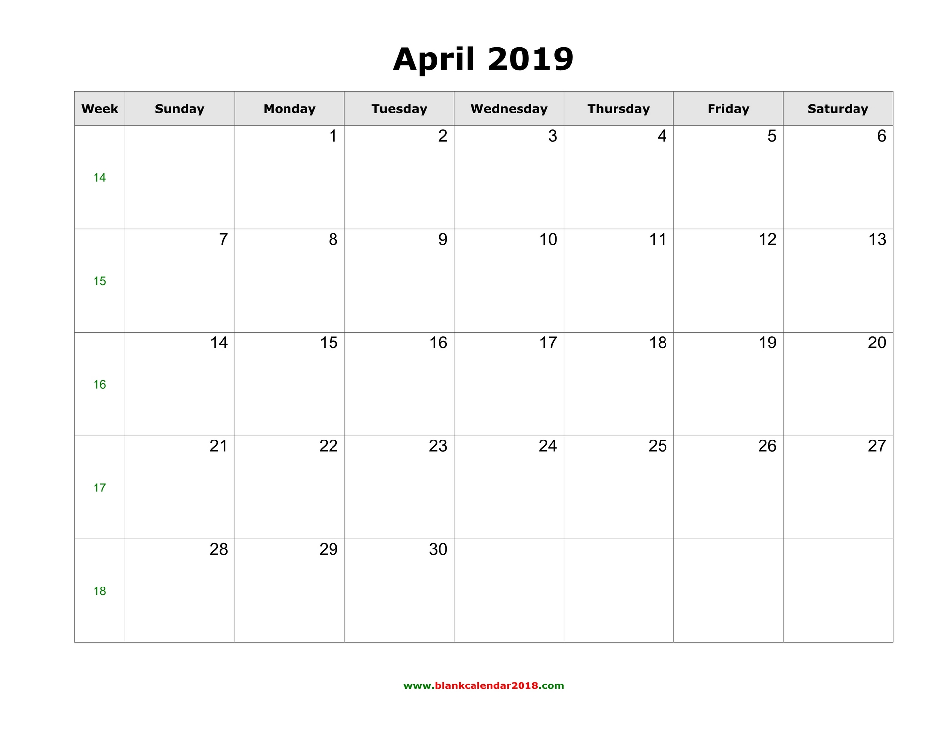 Remarkable image in april calender printable