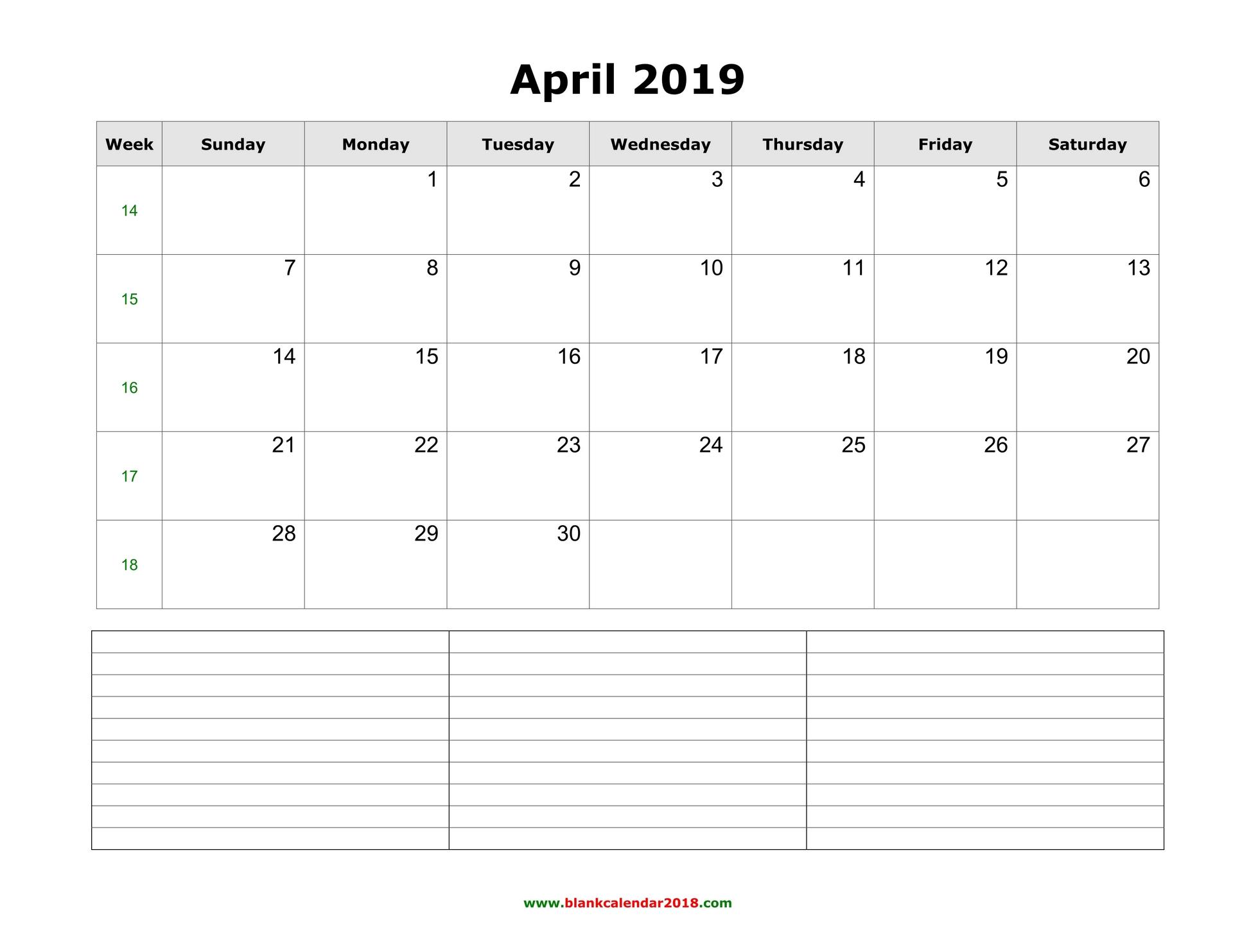 free download word calendar 2019