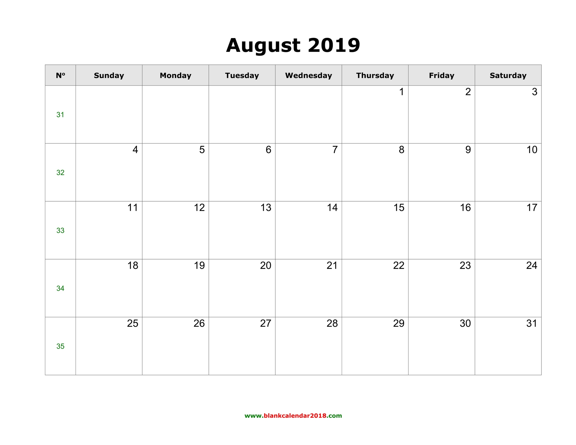 photograph about Printable Calendar Aug identify Blank Calendar for August 2019