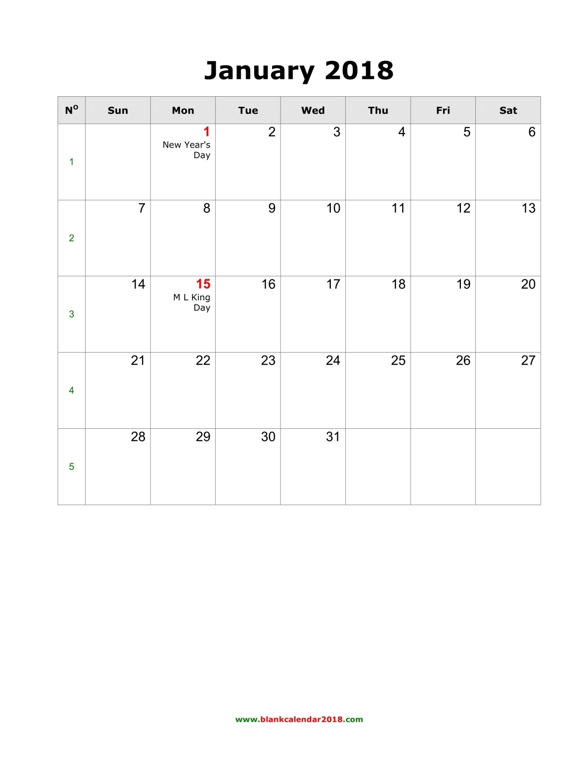 Calendar Monthly With Holidays : Blank monthly holidays calendar portrait