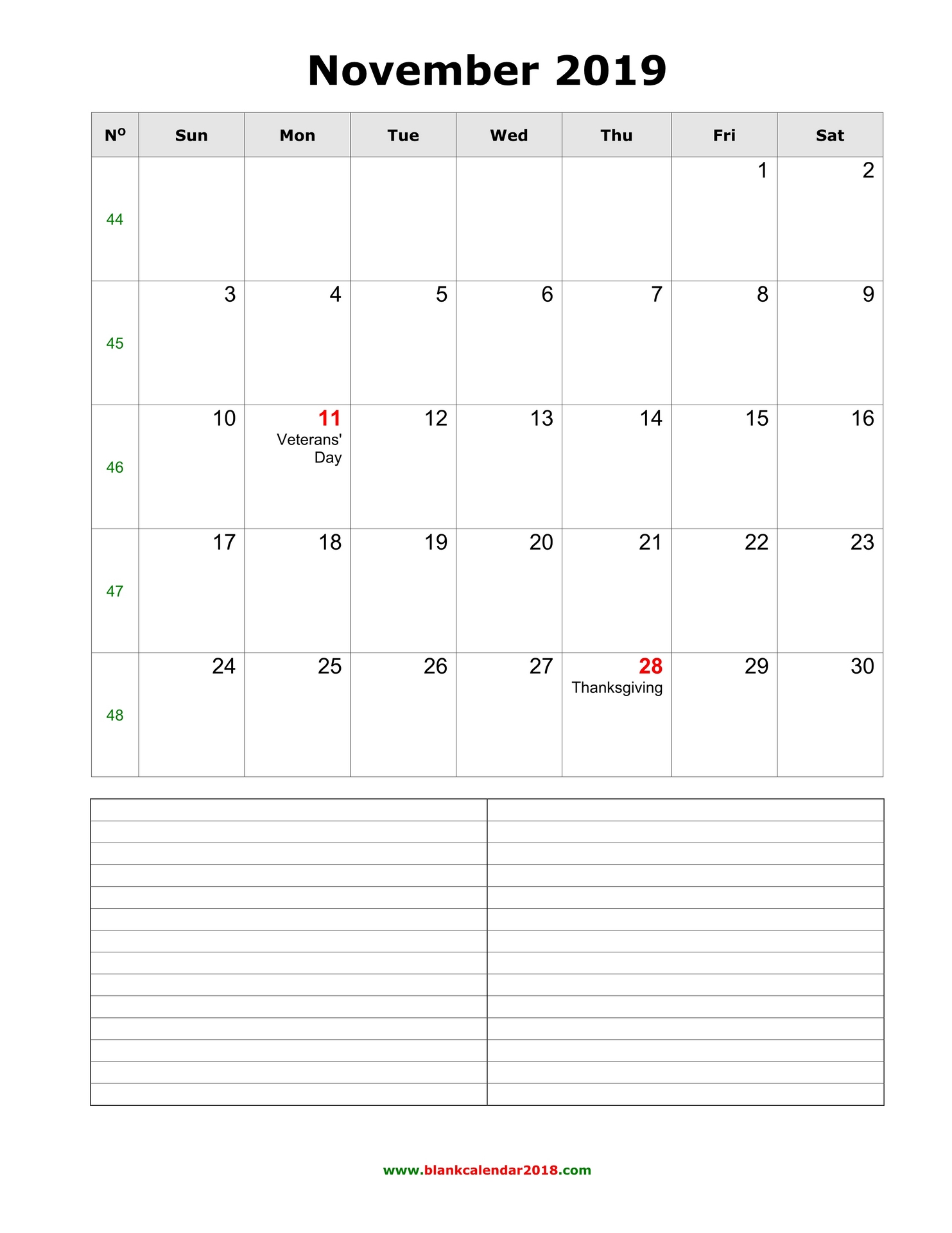 2018 Monthly Calendars Printable | Activity Shelter
