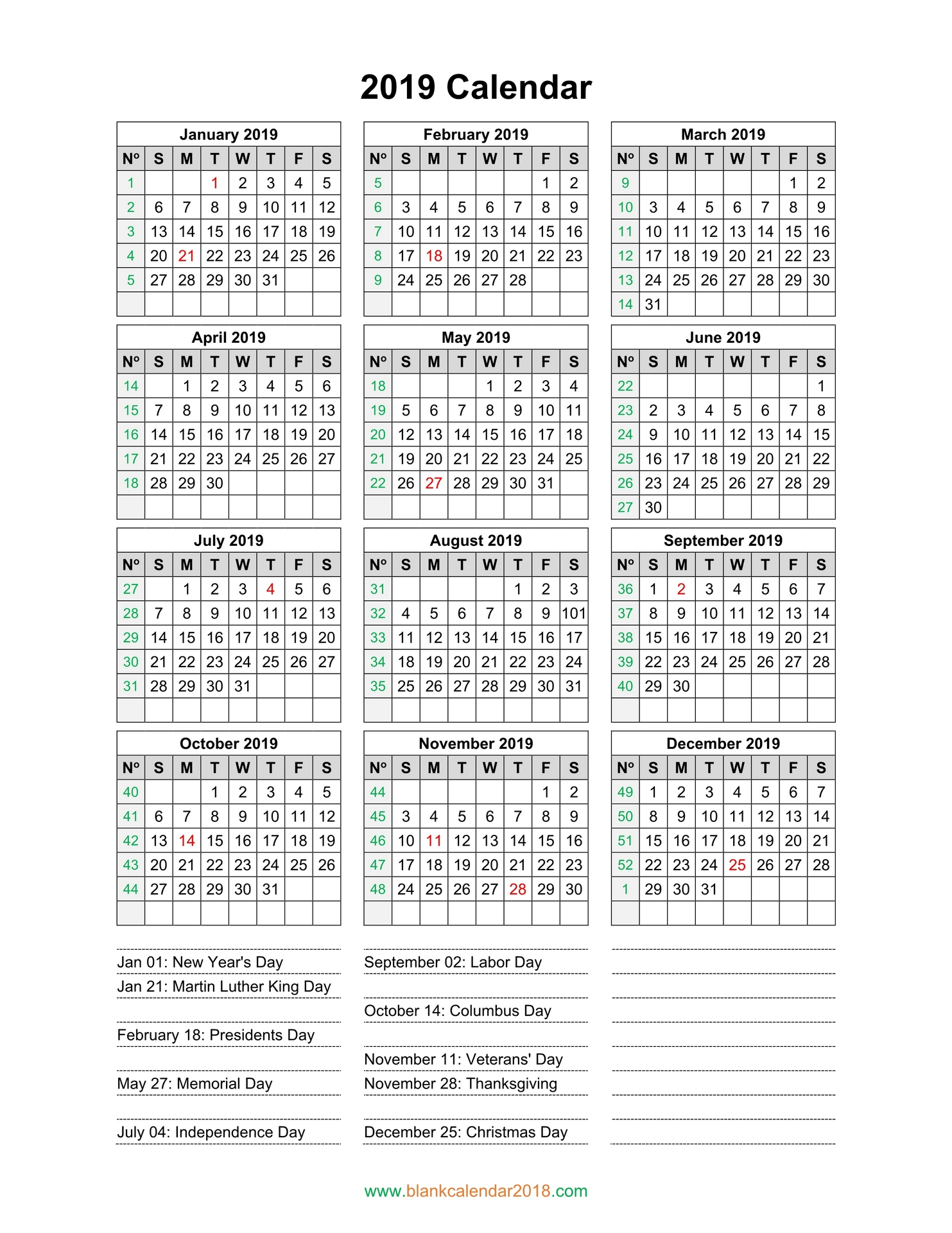 2019 Calendar Template Free Stock Photo - Public Domain ...